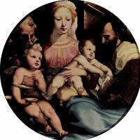 Доменико Беккафуми. Святое семейство с Иоанном Крестителем и донатором