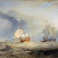 Джозеф Мэллорд Уильям Тёрнер. Баркас адмирала Ван Тромпа у входа в Тексель, 1645