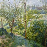 Михаил Федорович Ларионов. Сад весной