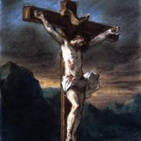 Эжен Делакруа. Иисус на кресте