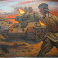 """Kursk."" Dedicated to the feat of the Soviet soldiers in the battle of Prokhorovka July 12, 1943"