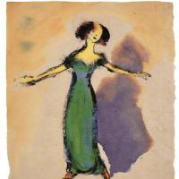 Эмиль Нольде. Певица в зелёном платье