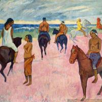 Поль Гоген. Всадники на пляже 2
