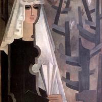 Наталья Сергеевна Гончарова. Испанская женщина в сером