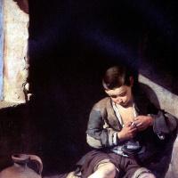 Бартоломе Эстебан Мурильо. Маленький нищий (Вшивый)