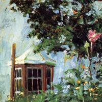 Эгон Шиле. Дом с эркером в саду