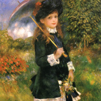 Girl with parasol (Aline, nuns)