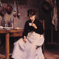 Victor Gabriel Gilbert. A Cup of coffee