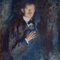 Эдвард Мунк. Автопортрет с зажжённой сигаретой