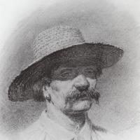 Архип Иванович Куинджи. Мужская голова в соломенной шляпе