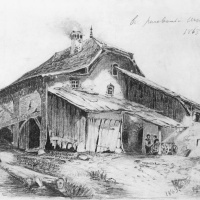 Фёдор Александрович Васильев. Сельский домик. Копия с рисунка Александра Калама