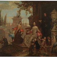 Portrait of a Family in a Garden