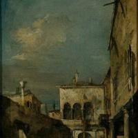 Франческо Гварди. Архитектурная фантазия с двориком