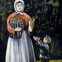 Нико Пиросмани (Пиросманашвили). Крестьянка с сыном