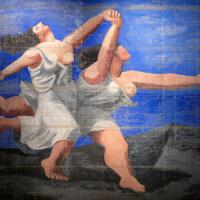 """Две женщины, бегущие по пляжу (Занавес к балету """"Голубой экспресс"""")"""