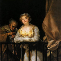 Маха и Селестина на балконе