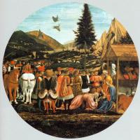 Доменико Венециано. Поклонение волхвов