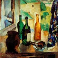 Бутылки у окна