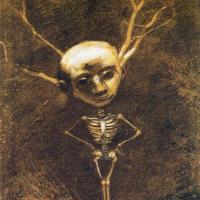 Odilon Redon. Skeleton