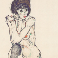 Egon Schiele. Seated Nude