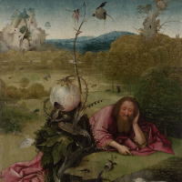 Иероним Босх. Святой Иоанн Креститель в пустыне