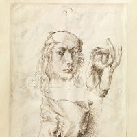 Альбрехт Дюрер. Автопортрет с этюдом руки и подушки (лицевая сторона листа)