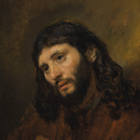 Study of the Head and Clasped Hands of a Young Man as Christ in Prayer