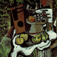 Georges Braque. Fruit on a tablecloth