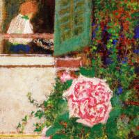 Жан Эдуар Вюйар. Молодая женщина за окном и цветок