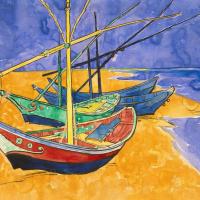 Boats at Saintes-Maries