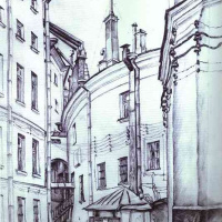 Мстислав Валерьянович Добужинский. Двор