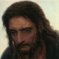 Христос в пустыне. Фрагмент