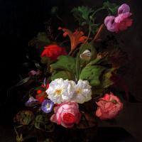 Рашель Рюйш. Натюрморт с цветами