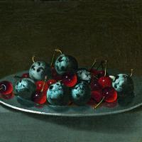 Хуан ван дер Амен-и-Леон. Блюдо с замороженными сливами и вишнями