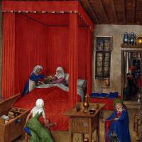 Ян ван Эйк. Рождение Иоанна Крестителя