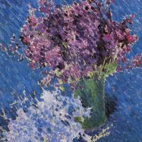 Михаил Федорович Ларионов. Цветы (Натюрморт с двумя букетами)