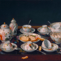 Still life with tea set