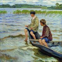 Николай Петрович Богданов-Бельский. Рыболовы
