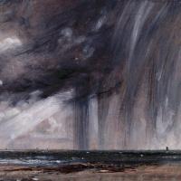 Джон Констебл. Морской вид с грозовыми тучами (Дождь над морем)