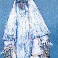 Мороз. Эскиз костюма (Дед Мороз) к «Снегурочка», опере Н.А. Римского-Корсакова и пьесе А.Н. Островского