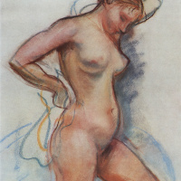 Zinaida Evgenievna Serebriakova. Coming out of the bath