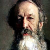 Портрет В. В. Стасова. Деталь