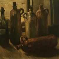 Винсент Ван Гог. Натюрморт с пятью бутылями