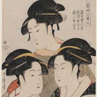Китагава Утамаро. Три красавицы наших дней