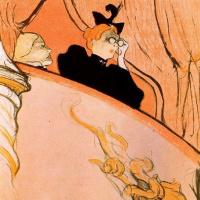 Анри де Тулуз-Лотрек. Балкон с позолоченой маской