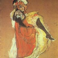 Анри де Тулуз-Лотрек. Танцующая Джейн Авриль