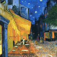 Night cafe in Arles