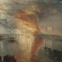Джозеф Мэллорд Уильям Тёрнер. Пожар в здании парламента 16 октября 1834 года