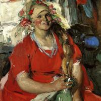 Абрам Ефимович Архипов. Женщина в красном