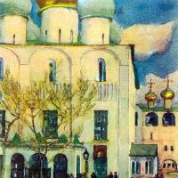 Константин Федорович Юон. Первый день Пасхи